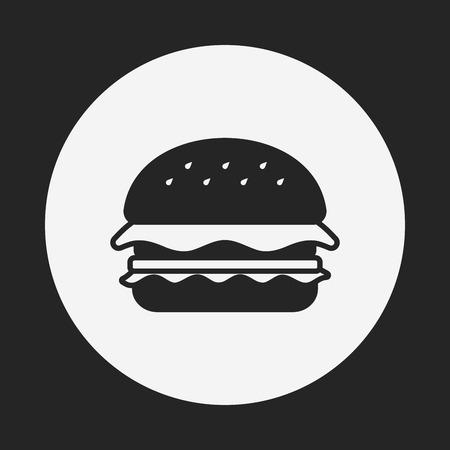 hamburger pictogram Stock Illustratie