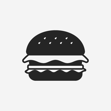 hamburger pictogram Stock Illustratie