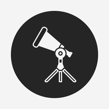 telescope icon Illustration
