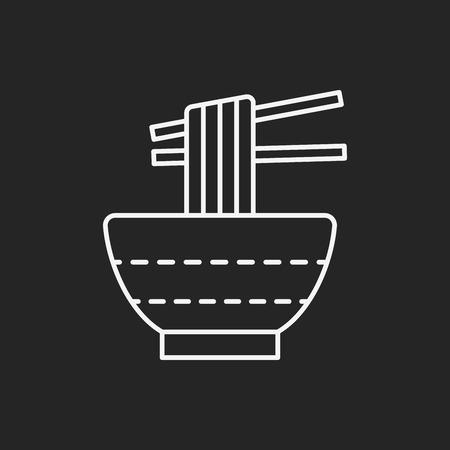 noodle: noodle line icon