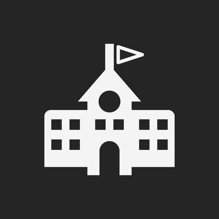 Школа: Значок здание школы