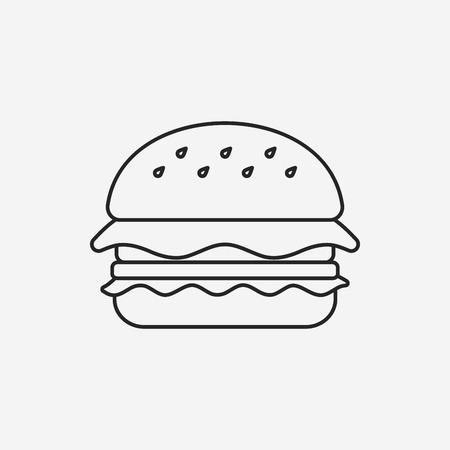ハンバーガー線アイコン  イラスト・ベクター素材