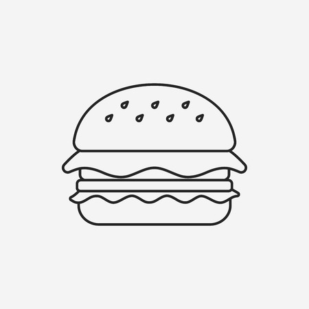 hamburger line icon Vectores