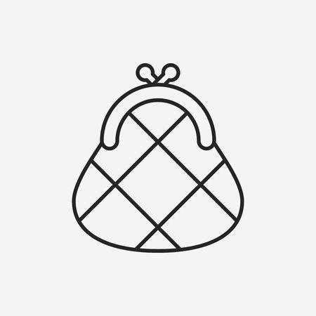 purse: Purse line icon
