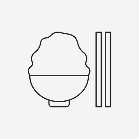 bowl of cereal: rice line icon