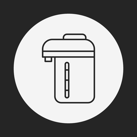 electric kettle: Electric kettle line icon