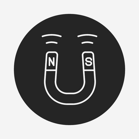 polarity: Magnet line icon