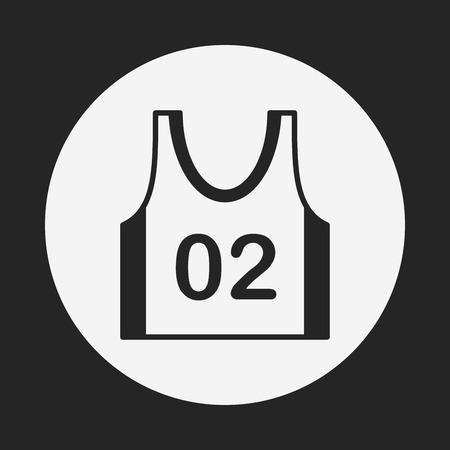 vest: Sports vest icon Illustration