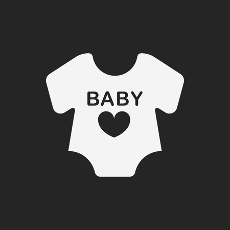 black baby boy: baby clothes icon