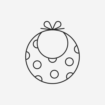 babero: Icono de línea babero de bebé
