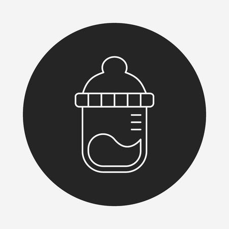 bottle feeding: Feeding bottle line icon