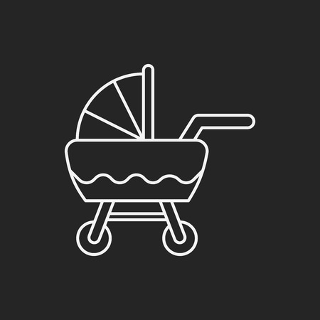 carriages: Baby carriages line icon