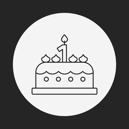 buttercream: Icona linea torta