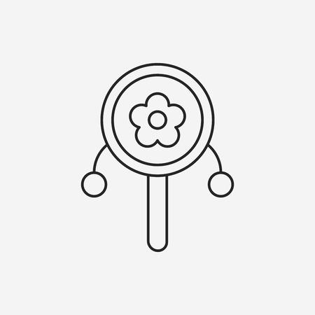 sonaja: Icono de línea sonajero bebé