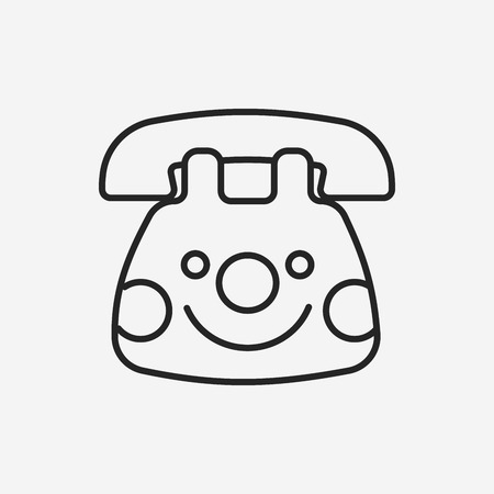 toy phone: baby toy phone line icon