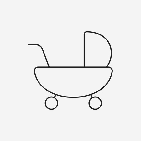 Baby carriages line icon Vector