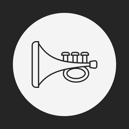 baby toy trumpet line icon