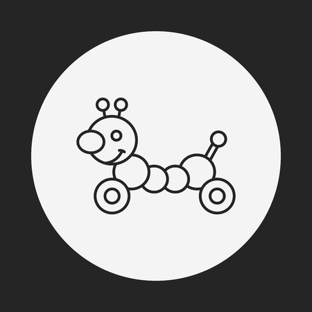 baby toy: baby toy line icon