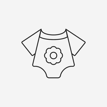 clothes line: baby clothes line icon