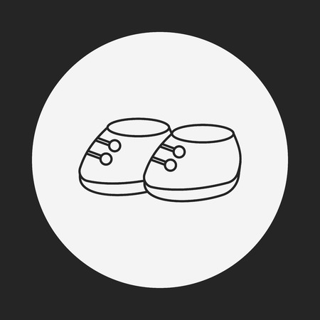 baby shoes: baby shoes line icon
