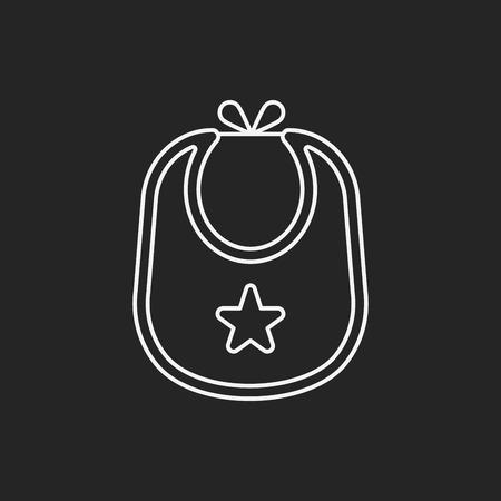 bib: Baby bib line icon Illustration