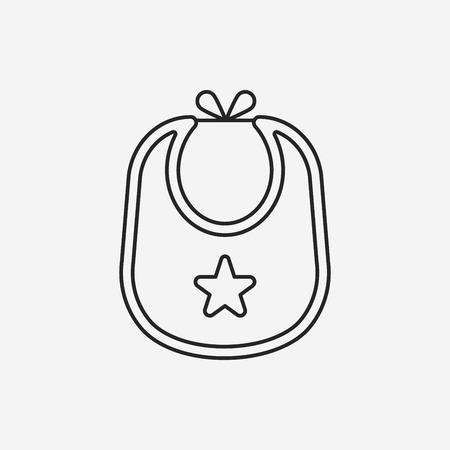 babero: Icono de l�nea babero de beb�