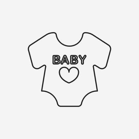 ropa de beb�: beb� icono de l�nea de ropa
