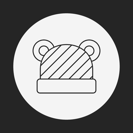 baby hat line icon Vector