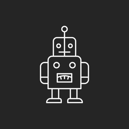 baby toy: baby toy robot line icon