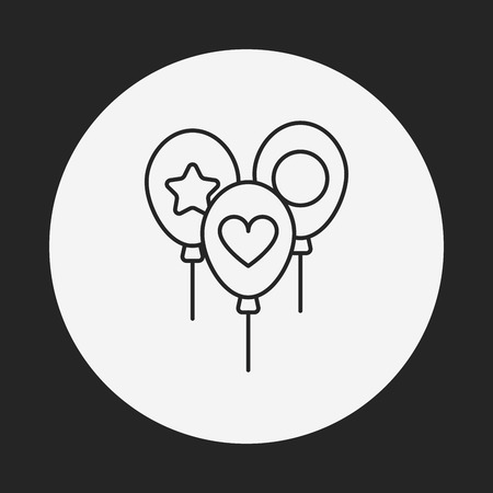 baby toy: baby toy balloon line icon