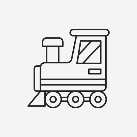 baby toy train line icon Illustration