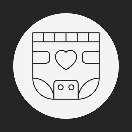 bimbo pannolino: bambino icona linea di pannolini