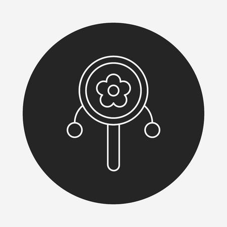 sonaja: Icono de l�nea sonajero beb�