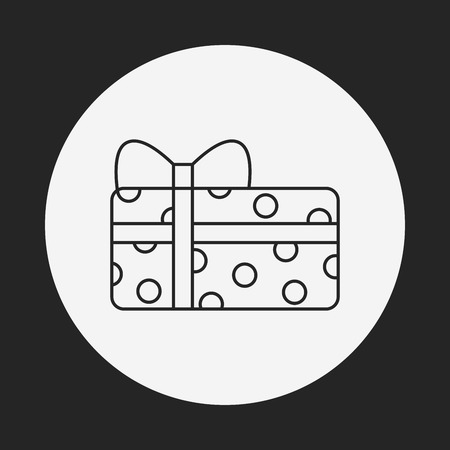 baby toy: baby toy gift line icon