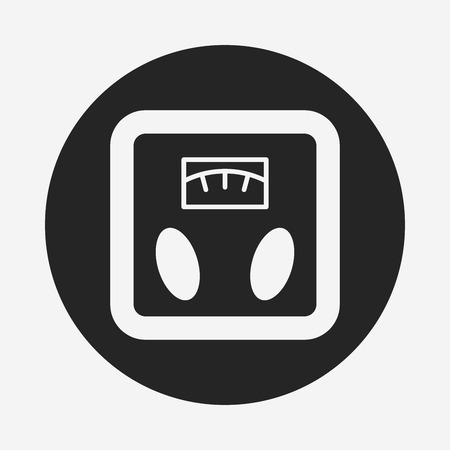 counterweight: Weighing machine icon