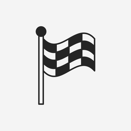 racing checkered flag crossed: Racing flag icon