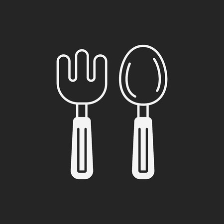 baby spoon: baby spoon and fork icon