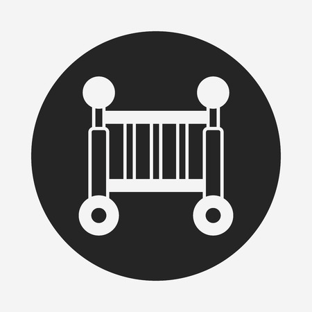 baby bed icon Vector