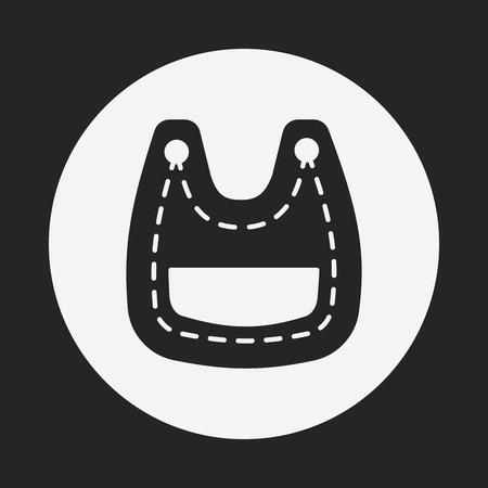 babero: Icono babero de beb� Vectores