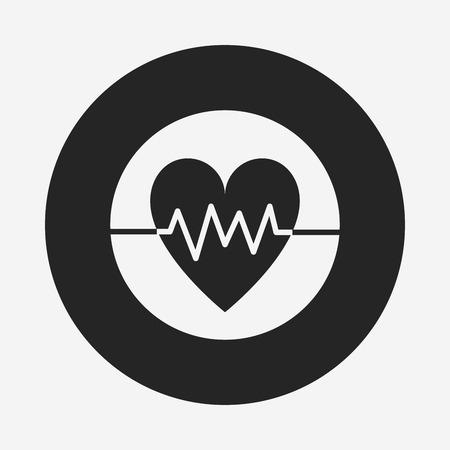 ecg: ECG icon Illustration