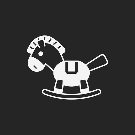 baby toy: baby toy horse icon