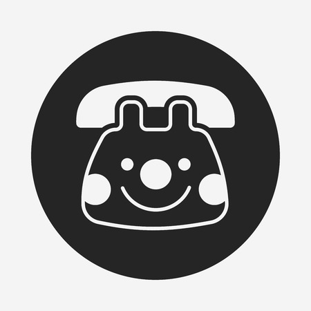 toy phone: baby toy phone icon Illustration