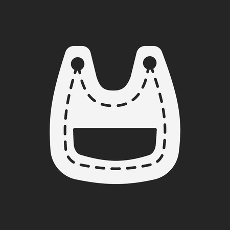 babero: Icono babero de bebé Vectores