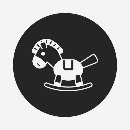 baby toy horse icon