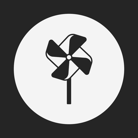 baby toy: baby toy windmill icon Illustration