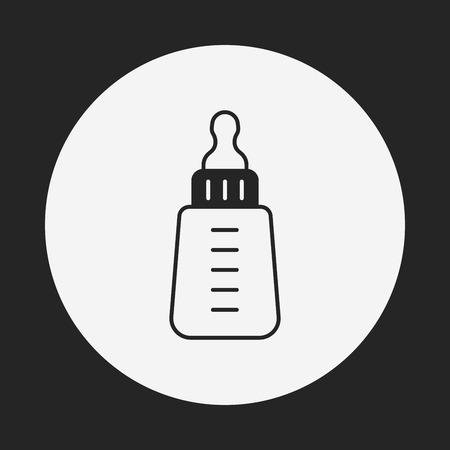 bottle feeding: Alimentar icono de la botella