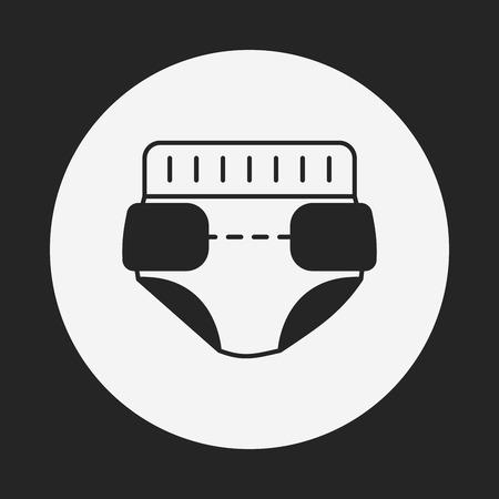 bimbo pannolino: bambino icona pannolini Vettoriali