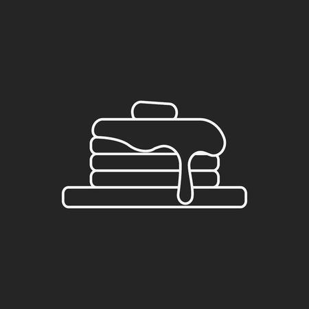 pancake: pancake line icon