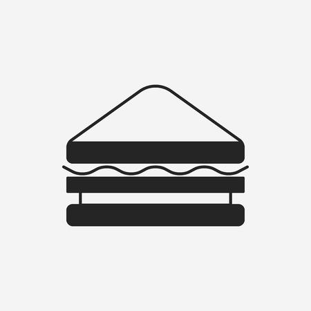 sandwich white background: Sandwich icon