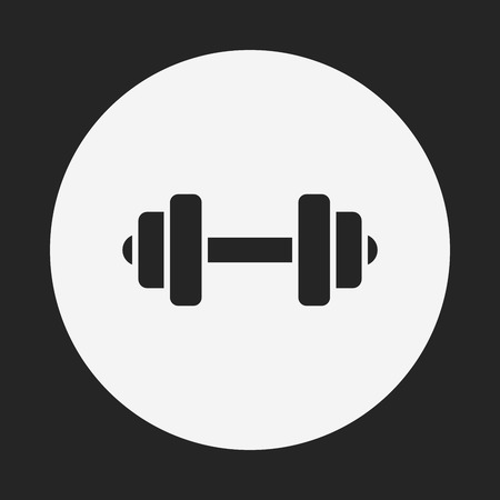 hand with dumbbell: Dumbbell icon